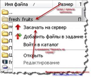 Загружаем файлы темы wordpress