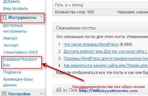 ссылка Datafeedr Random Ads