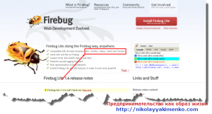 Firebug дополнение