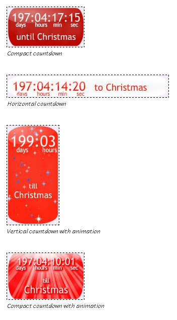 Плагин wordpress Christmas Countdown Clock