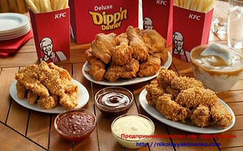 Меню от KFC